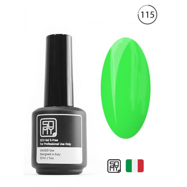 Ярко зеленый гель лак: 115