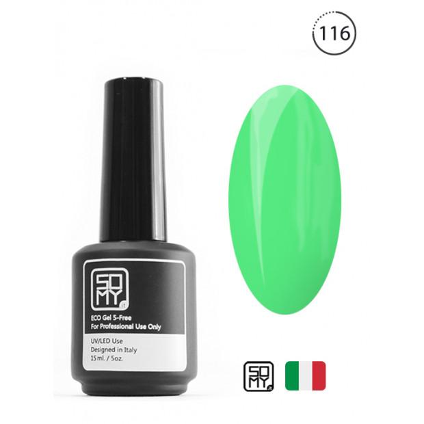 Нежно зеленый гель лак: 116
