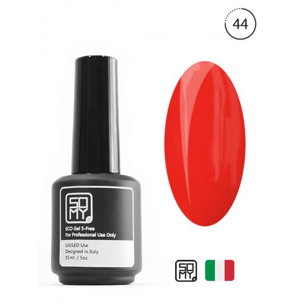 Гель лак UV огенно-красный цвет: 44